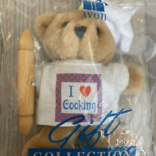 """AVON GIFT COLLECTION PASTIME PALS """"I LOVE COOKING"""" TEDDY BEAR NIP"""