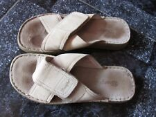 WRANGLER MULES BEACH BEIGE VELCRO SHOES SIZE 39 WORN