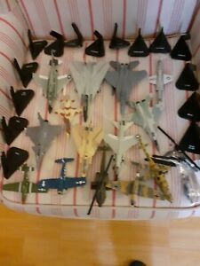 AIRCRAFT DIE CAST RARE MODELS X 14 AND STANDS / job lot / bundle aeroplanes