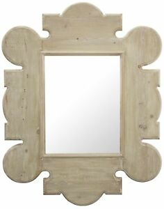 """64"""" T Gothic Wall Mirror Hand Crafted Reclaimed Douglas Fir Wood Frame"""