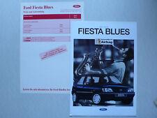 Prospekt Ford Fiesta Blues, 3.1994, 4 Seiten + Preisliste 5.1994