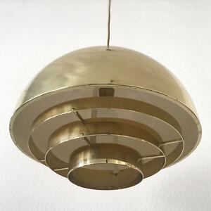 MID CENTURY Modern VEREINIGTE WERKSTÄTTEN Brass DOME Pendant Lamp ∅ 40cm, 1960s