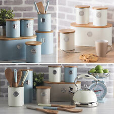 New Typhoon Living Kitchen Tea Coffee Sugar Storage Canisters Pasta Biscuit Tin