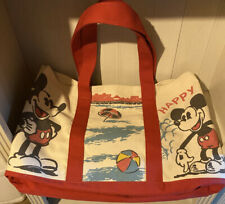 Junk Food x Mickey Mouse Beach Tote Bag Cotton Canvas Large And You