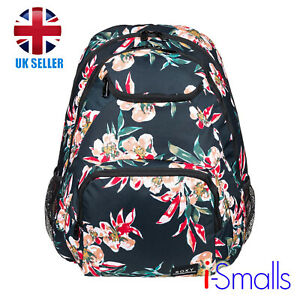 Roxy Shadow Swell 24L - Medium Black Floral Backpack