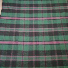 San Marcos Stadium Blanket Green Black Mauve Pink Plaid Stripe 45� X 66� Soft