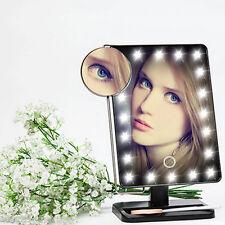 Tragbarer Kosmetikspiegel LED beleuchtet Schönheits-Eitelkeits-Kosmetikspiegel