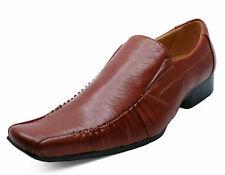 Para hombre tan Slip-On Mocasines Inteligente Formal Boda Vestido de traje de Trabajo Zapatos Tallas 7-12