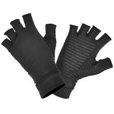 Pressure Nursing Half-Finger Gloves Rehabilitation Fingerless Mittens Black
