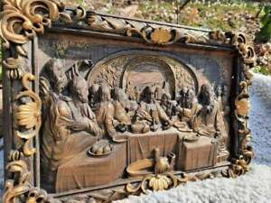 The Last supper WOOD CARVED ICON RELIGIOUS GIFT WALL HANGING ART WORK