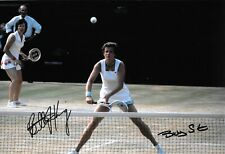 billie jean king betty stove doubles action at wimbledon signed 12x8 photo