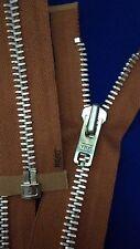 "VTG NOS Jacket Zipper 10x YKK JAPAN #8 Separating Metal Aluminum 25"" RUST"