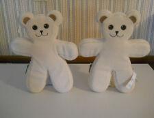 IKEA Teddy bears PS Brum cream color flat bendable posable plush Unicef Lot of 2