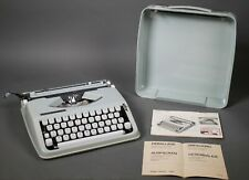 Vintage Hermes Rocket Portable Typewriter Sea Foam Green Writes in Italics