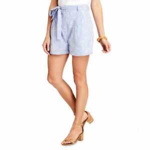 NWT VINEYARD VINES Size M SHORTS Ocean SEA SIDE High-Rise EYELET Embroidered