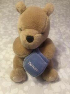 "Gund Disney Classic Winnie the Pooh Plush Musical Wind Up 9"" Bear With Hunny Pot"