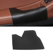 4xInner BLACK Leather Door Handle Panel Pull Cover Trim for BMW 5 Series F10