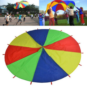 3M Kids Play Parachute Children Rainbow Outdoor Game Exercise Sport Toy GIFT UK