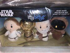 Hallmark's Itty Bittys Plush Star Wars Collectible Set of 4- Nib