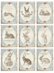 BÜGELBILD-Vintage-Shabby-Nostalgie-Ostern-Easter-Hase-Rabbit-3259