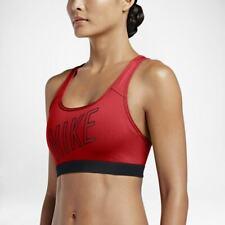 Nike Women's Racerback Pro Classic Medium Support Padded Sports Bra Crimson (S)
