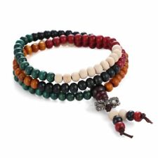 Colorful Women/Men Ethnic Boho Multilayer Buddha Beads Bracelet Bangle Jewelry