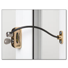 Jackloc Cable Window Restrictor 200mm for UPVC Child Safety with Key Lock Brass