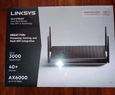 NIB (Sealed) LinkSys Max Stream AX6000 MR9610 Dual Band Wi-Fi 6 Router