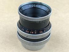 Kern-Paillard 25mm f/1.5 Switar AR C-Mount Lens - Works Great