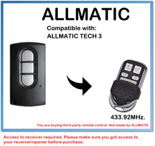 ALLMATIC TECH 3 Compatible Remote control Rolling code 433.92MHz.