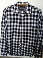 Banana Republic Camden Fit Navy Blue Checked Shirt Size S/P 37-38cm