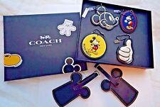 Lot of 6 Coach Disney - Mickey Leather Hang Tag F59882 / Ear Luggage Tag F58945