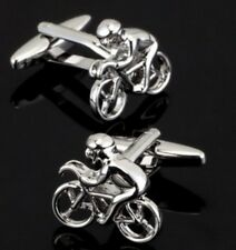 New Pair Cycling Bike Cyclist Racing Cufflinks Shirt Bicycle Gift Uk Seller
