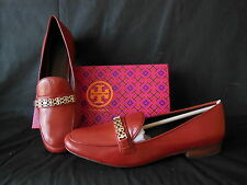 New TORY BURCH Light Redwood Gemini Chain Link Loafer Flats Sold Out Sz 10