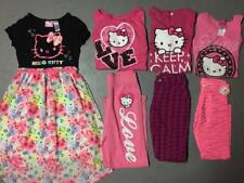 GIRLS HELLO KITTY CLOTHING LOT TOPS BOTTOMS SETS OUTFITS DRESS SIZE M L 8 10 12