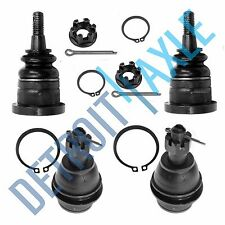 Brand New 4pc Kit: Complete Front Upper and Lower Ball Joint set for GM Vehicles