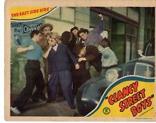 LEO GORCEY EAST SIDE KIDS HUNTZ HALL 1943 CLANCY STREET BOYS LOBBY CARD  1883
