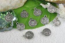 30pcs Tibetan Silver Round Religious Charms R10723