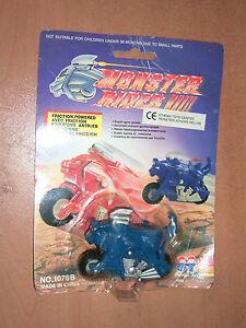 1993 VINTAGE FRICTION POWERED RETRO TOY MONSTER RIDER BIKE RARE