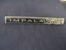 """IMPALA  SS""  EMBLEM SCRIPT TRIM    METAL  GM CHEVROLET  4413013"