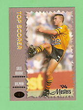 1994  BALMAIN  TIGERS MASTERS RUGBY LEAGUE CARD #4 GREG BOURKE