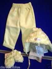 NEU mit Etikett Mintgrün super weich Hut Babyschühchen & Hose Set 6-12 Monate