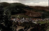 Schönau Schwarzwald alte Postkarte ~1950/60 Panorama Gesamtansicht ungelaufen