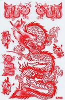 PLANCHE A4 TUNING 7 AUTOCOLLANT STICKER DRAGON ROUGE DIM. 26,5 X 17,5 CM