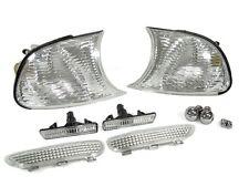 DEPO 01 BMW E46 M3 2D CLEAR CORNER LIGHT +SIDE MARKER + BUMPER LIGHT CHROME BULB