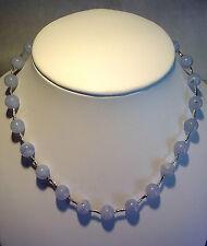 Collana argento 925/°°° e calcedonio