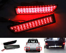 2x for TOYOTA RAV4 Black Smoked Lens LED Bumper Reflector Tail Brake Stop Light
