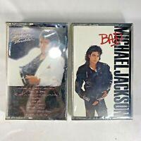 Michael Jackson Thriller Bad Audio Cassette Tape Vintage 1982 Factory Sealed New