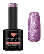 1218 VB Line Purple Silver Glitter - nail gel polish - super mega