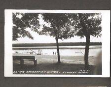 Vtg Postcard Dower Recreation Center Staples Minn MN RPPC Postmarked